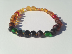The locations of each color beads and amber coloring may vary