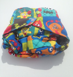 Monsters' ball diaper cover