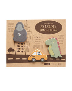 Monster attack sticky notes