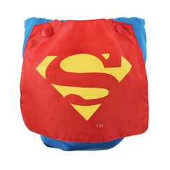 DC Comics Snap-In-One Cloth Diaper with Cape - Superman