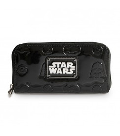 Star Wars Darth Vader Darkside Black Patent Zip Wallet