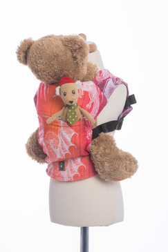 Lenny Lamb - doll carrier - dragon - orange and red