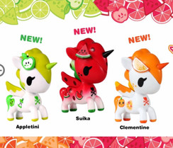 Tokidoki 3 figured Unicorno Fruit packs