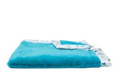 Saranoni Caribbean blue Lush/Caribbean blue w/deer Satin Border Recieving blanket