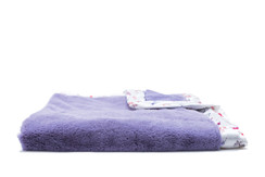 Saranoni Lilac Lush/Lilac w/deer Satin Border Recieving blanket