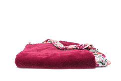 Saranoni Raspberry Lush/floral Satin Back Toddler to Teen blanket
