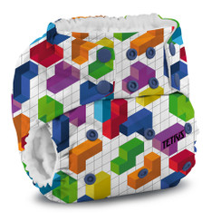Kangacare - tetris diaper Rumparooz G2 SNAP - block party