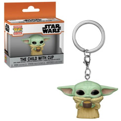 Star Wars: The Mandalorian The Child with Cup Pocket Pop! Key Chain