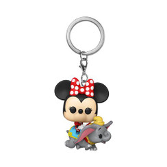 Disneyland 65th Anniversary Flying Dumbo Ride with Minnie Pocket Pop! Key Chain