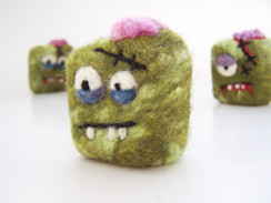 Zombie felted Soap