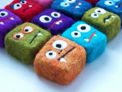 Monsters Felted Soap