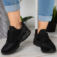 EMMA All Black Lace Up Trainers