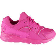 Emma Fuchsia Lace Up Trainers