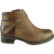 """DELLA""  Camel Strap Chelsea Booties  Ankle Boots"