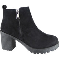 """IRVETTA"" Black Ankle Work Chelsea Boots"