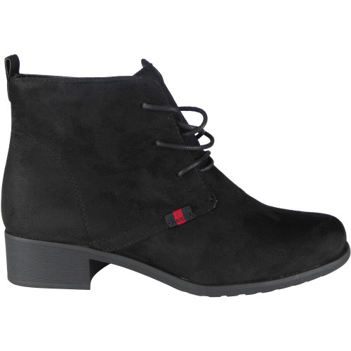 e4f5ad9b06db ... ANKLE BOOTS  Lari Black Cuban Heel Lace Up Boots. Image 1