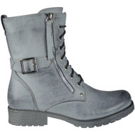 Oletha Silver Buckle Strap Zip Boots