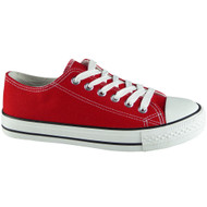 """""""TWYLA"""" Red Lace Up Trainers Running Shoes"""