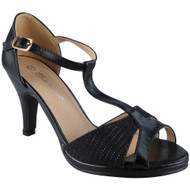 """OSMA"" Black Bridesmaid Kitten Heel Sandals"