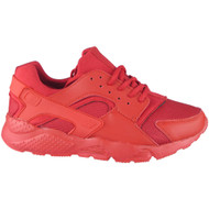 Emma Red Lace Up Running  Trainers