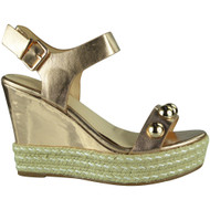 Willow Champagne Espadrilles Wedge Shoes