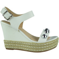 Willow White Espadrilles Wedge Shoes