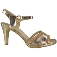 Carissa Champagne Strappy Party Sandals