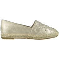 Carmel Gold Slip On Espadrilles Shoes