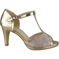 Darlene Champagne Strappy Heels Shoes