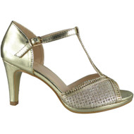 Darlena Gold Strappy Heels Shoes