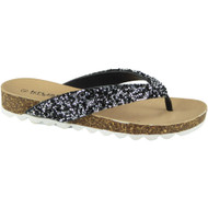 Afia Black Toe Post Summer Chappal Sandals
