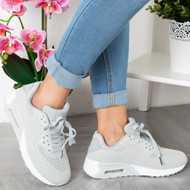 AILEEN Grey Lace Up  Trainers
