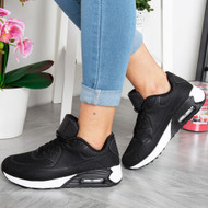 AILEEN Black/White Lace Up Trainers