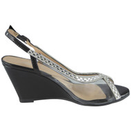 Aaliyah Black Peep Toes Bridal Sandals