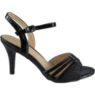 Claire Black Peep Toes Party Sandals