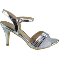 Claire Silver Peep Toes Party Sandals