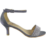 Mila Grey Peep Toes Bridal Sandals