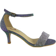 Mila Purple Peep Toes Bridal Sandals