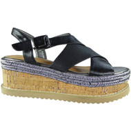Serenity Black Peep Toes Summer Sandals