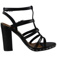 Vanessa Black Strappy Heel  Sandals
