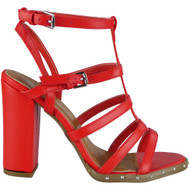 Vanessa Red Strappy Heel  Sandals