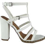 Vanessa White Strappy Heel  Sandals