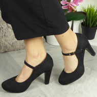 SKY Black High Heel Shoes