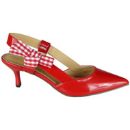 Patty Red Patent Kitten Heel Shoes