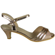 Gillian Gold Peep-toe Party Sandals