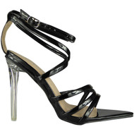 Madison Black Perspex Heel Sandals