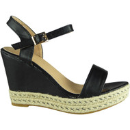 Bonny Black Peep-toe Party Sandals