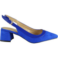 Renne Blue Party Mid Heel Sandals