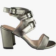 Irma Grey Peep-Toe Party Sandals