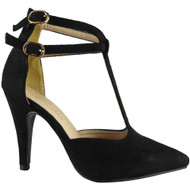 Selmie Black High Heel Party Sandals